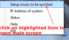 setupmusic to be synched